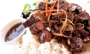 Pho V Noodle House & Sushi: Vietnamese Food or Boba Tea and Coffee at Pho V Noodle House & Sushi (Up to 40% Off)