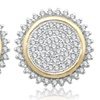 1/2 CTTW Diamond Cluster Earrings by Brilliant Diamond