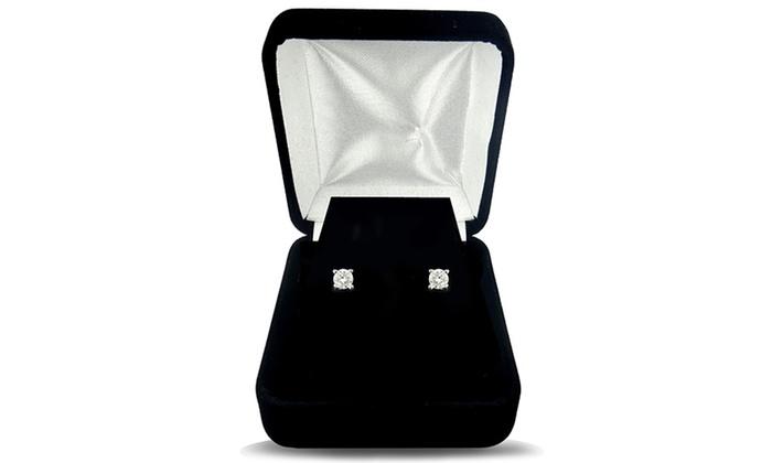 SilverSpeck Diamond Stud Earrings: SilverSpeck Diamond Stud Earrings