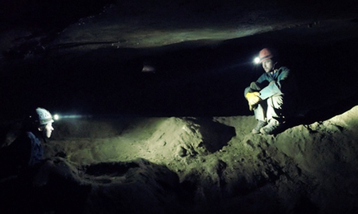 Wilderness Adventure at Eagle Landing - Potts Mountain: Half-Day Caving Tour for Three or Six from Wilderness Adventure at Eagle Landing (Up to 54% Off)
