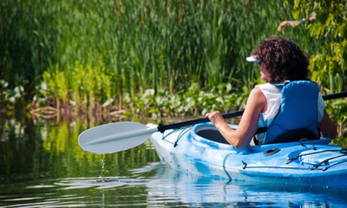 Kinni Creek Lodge and Outfitters - Upper Kayak Park & Kinni Jungle Trips Meeting Place: Kayaking the Kinni Jungle Safari for Two, Four, or Six with Drinks from Kinni Creek Lodge and Outfitters (51% Off)