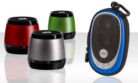 HMDX Jam Bluetooth Speaker and Free Go Portable Speaker. Multiple Colors Available. Free Returns.