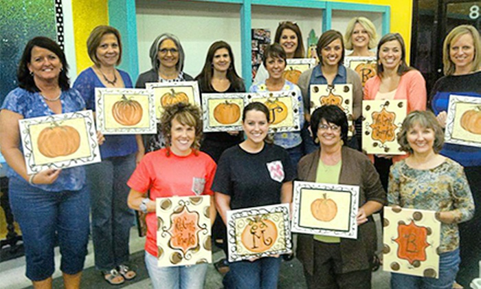 P'zazz Art Studio - Prattville: Adult Painting Class for One or Two at P'zazz Art Studio (54% Off)
