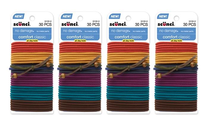 120 Pack Of Scunci Elastic Hair Ties