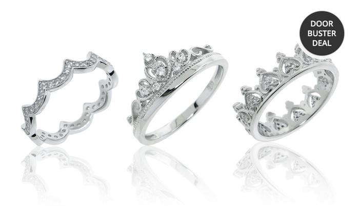 Sterling Silver Royal Crown Rings: Sterling Silver Royal Crown Rings. Multiple Styles Available. Free Returns.