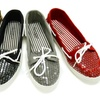 $19.99 for Sequin-Overlay Canvas Boat Shoes
