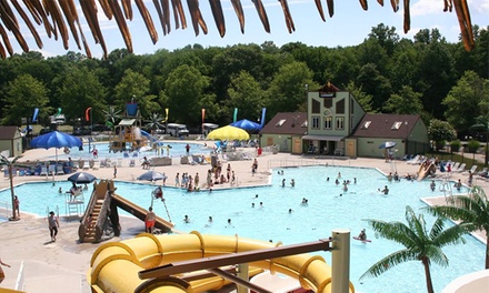 Waterpark Outings at Atlantis, Pirate's Cove, Ocean Dunes, and Volcano Island  (Up to 41% Off). Nine Options.