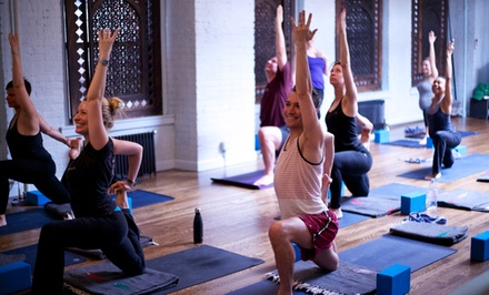 Five Yoga Classes or One Month of Unlimited Classes at Yogamaya Yoga Studio (Up to 62% Off)