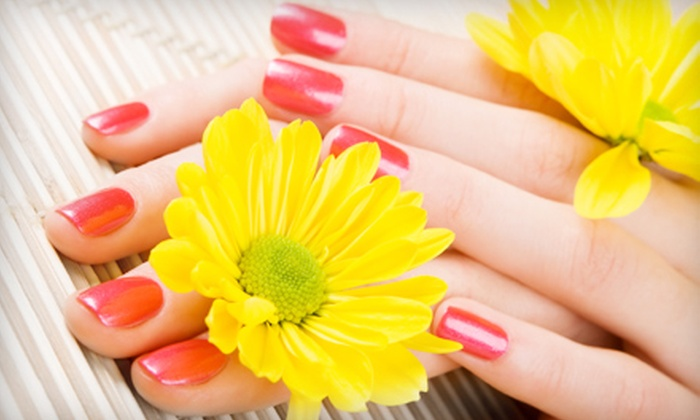 On Broadway Salon & Day Spa - Riverside: $49 for Mani-Pedi Package with Paraffin Wax, Sea-Salt Scrub, and Massage at On Broadway Salon & Day Spa ($115 Value)
