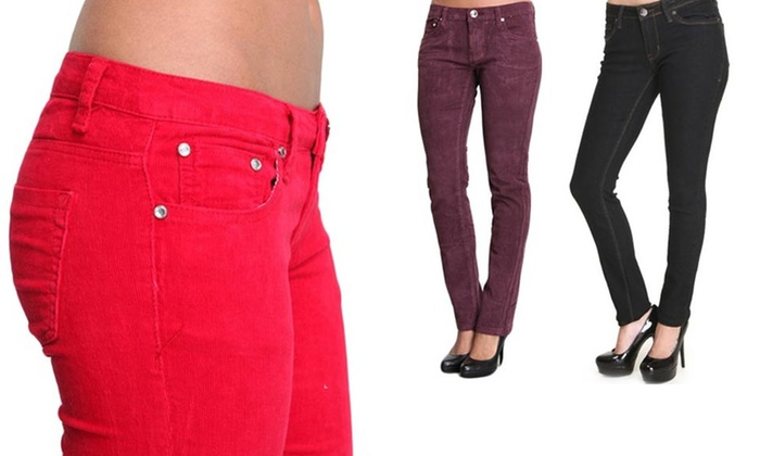 Hybrid Women's Skinny Corduroys or Jeans: Hybrid Women's Skinny Corduroys or Jeans. Free Shipping and Returns.