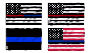 Anley USA Thin Red or Thin Blue Line Flag