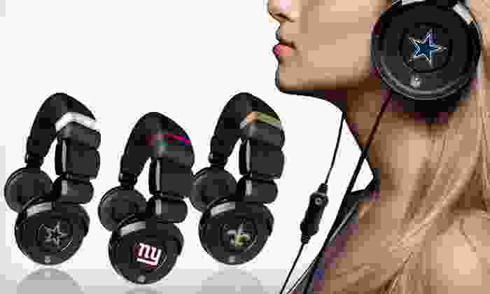 iHip NFL DJ Headphones with Mic: $18 for One Pair of iHip NFL DJ Headphones ($49.99 List Price). 12 Team Logos Available. Free Shipping.