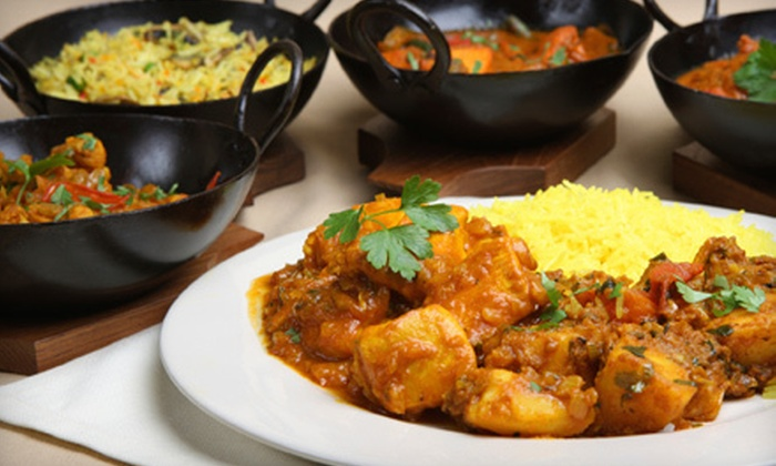 Asya - Brooklyn Heights: Two-Course Indian Dinner for Two or Four with Wine at Asya (Up to 57% Off)