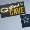 NFL Dad's Cave Wood Sign