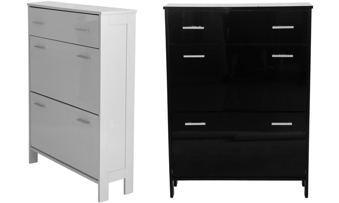 High Gloss Shoe Cabinet Groupon