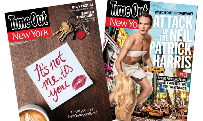 """Time Out New York: $19 for a One-Year Print and Digital Subscription to """"Time Out New York"""" ($38 Value)"""