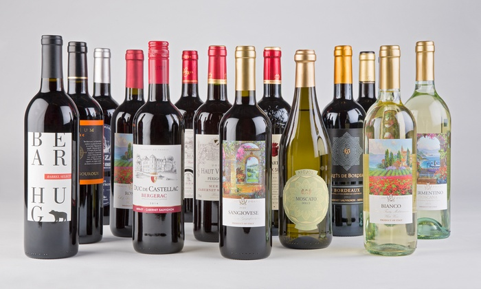 Barclays Wine : 15 Bottles of Premium Wine with a Deluxe Waiter's Corkscrew from Barclays Wine (Up to 74% Off)