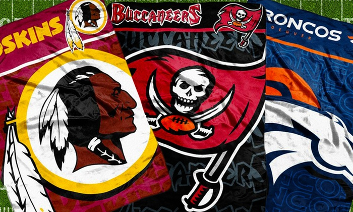 "NFL Micro-Raschel Throw: $18.99 for NFL 46""x60"" Micro-Raschel Throw ($40 List Price). Multiple Team Logos Available. Free Shipping and Returns."