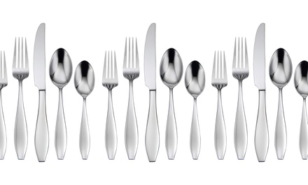 Oneida Modern Abstract 65-Piece Flatware Set