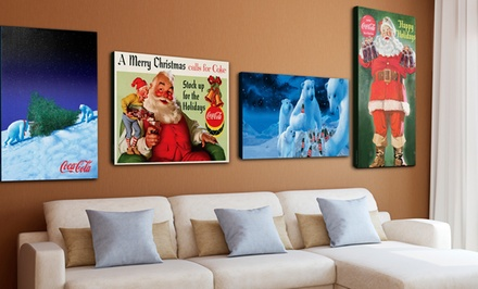Coca-Cola Gallery-Wrapped Christmas Canvas Print. Multiple Prints Available. Free Returns.