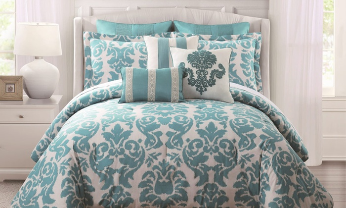 9-Piece Comforter Sets: 9-Piece Comforter Sets. Multiple Styles Available. Free Shipping and Returns.