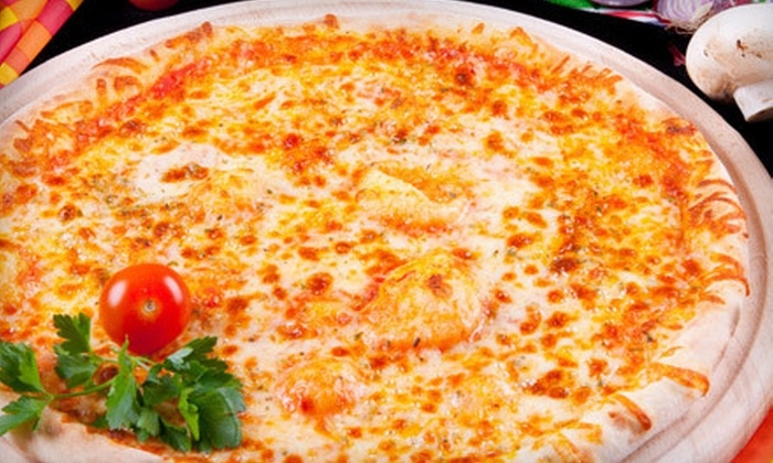 Ollie & Jax Pub 'n Pizza - Ladera Ranch: Pizza and Soda at Ollie & Jax Pub 'n Pizza (Up to 52% Off). Two Options Available.