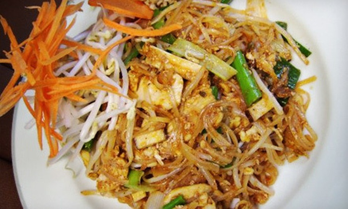 Ploi Thai - East Rutherford: Thai Dinner for Two or Four with Appetizers and Salads at Ploi Thai (Up to 59% Off)