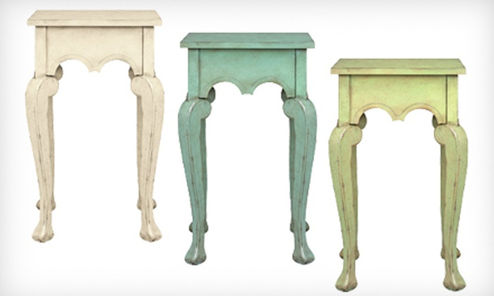 Home Decorators Collection: $99 for a Keys Side Table in Antique Blue, Cream, or Green. Shipping Included ($154 Total Value)..