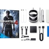 PSVR Headset and PlayStation 4 Slim with Uncharted 4