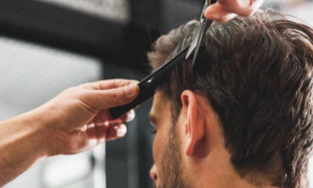 Cut, Finish and Scalp Treatment with Choice of Shave and Optional Mini-Facial at The Salon For Men (Up to 52% Off)
