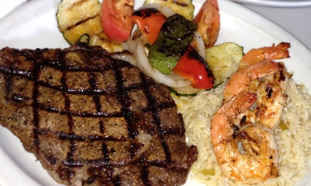 Hand-Cut Steaks and Oysters at Greek Brothers Oyster Bar (Up to 50% Off). Two Options Available.