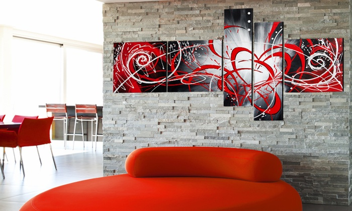 Fabuart com multi panel artwork on canvas