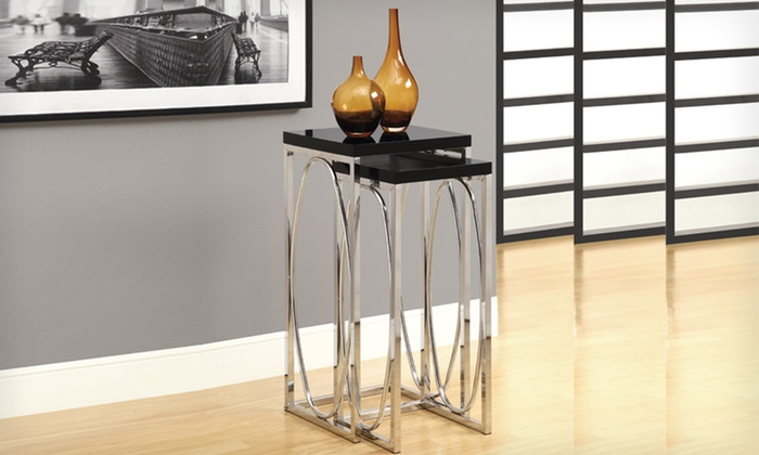 $109.99 for a Chrome 2-Piece Plant-Stand Set in Black or White. Free Shipping and Returns