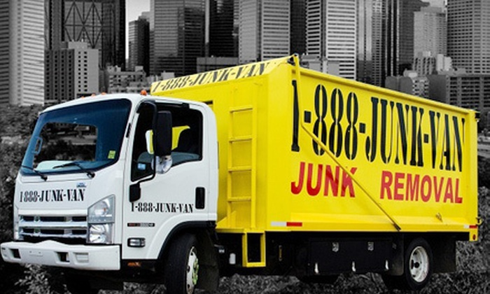 1-888-Junk-Van - Edmonton: $35 for Up to 250 Pounds of Junk Removal Including Labor, Transportation, and Disposal Fee from 1-888-Junk-Van ($152.50 Value)
