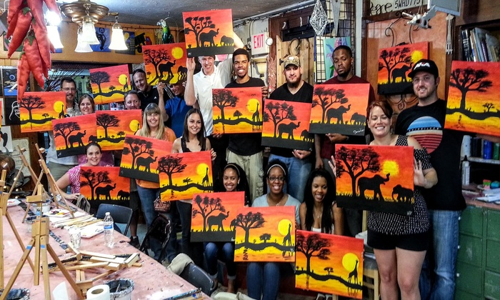 Canvas and Coffee: Canvas Painting Class for One, Two, or Four at Canvas and Coffee (34% Off)