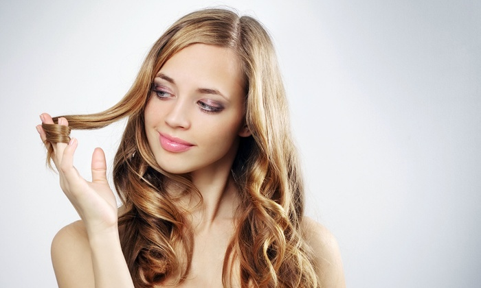 Lucid Salon - Carol Stream: Haircut with Deep-Conditioning Treatment, Single-Process Color, or Partial Highlights at Lucid Salon (Up to 52% Off)