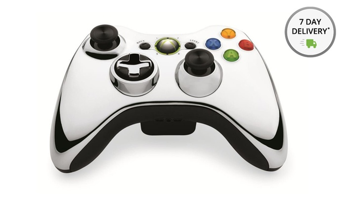 Xbox 360 Metallic Silver Wireless Controller: Xbox 360 Metallic Silver Wireless Controller. Free Shipping and Returns.