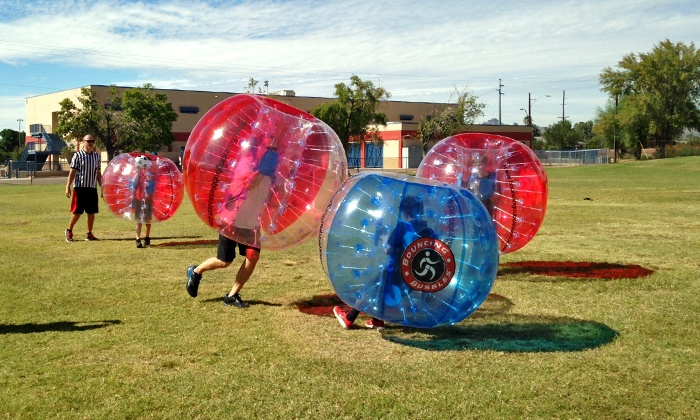 Bouncing Bubbles - Phoenix: One- or Two-Hour Bouncing Bubbles Party with 10 Suits from Bouncing Bubbles (Up to 47% Off)