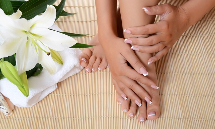 The Nail Affair - Enterprise: One Spa Manicure and Pedicure from The Nail Affair (55% Off)