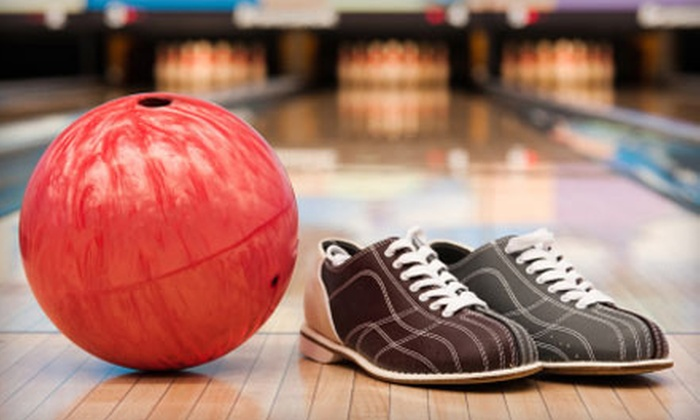 Sunset Lanes - Central Beaverton: $25 for 90 Minutes of Bowling for Five with Shoes at Sunset Lanes (Up to $54.18 Value)