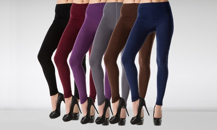 Fleece-Lined Footed or Footless Tights (6-Pack)