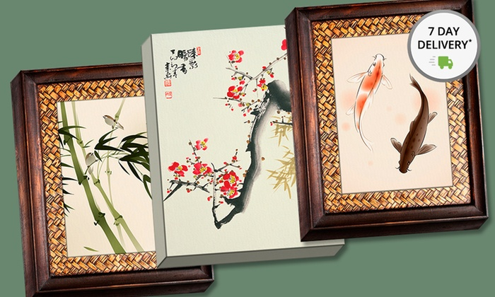 """16""""x20"""" Gallery Wrapped Asian Watercolor Prints: 16""""x20"""" Gallery Wrapped Asian Watercolor Prints. Multiple Prints Available. Free Returns."""