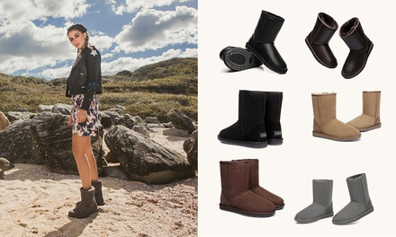 A Pair of Australian Shepherd® Water Resistant UGG Boot: Classic ($85) or Classic Nappa ($89)