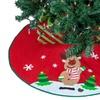 """Set of Two 42"""" Santa and Reindeer Christmas-Tree Skirts"""