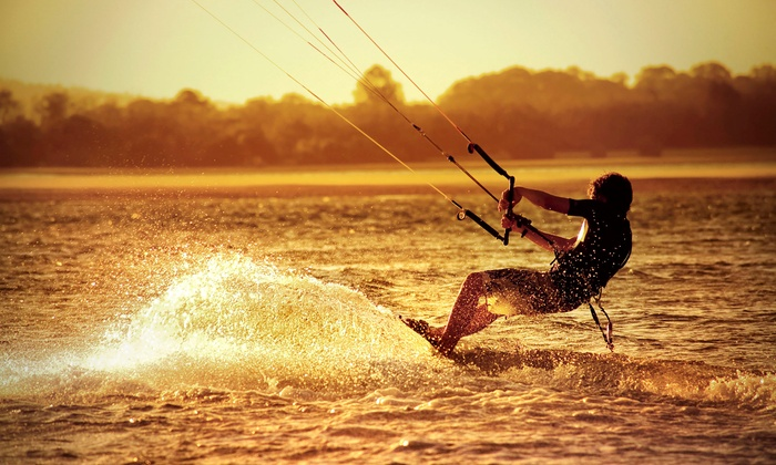 Cosmic Kites Kiteboarding - Tobay Beach: Semiprivate Two- or Four-Hour Kiteboarding Lesson for One or Two from Cosmic Kites Kiteboarding (Up to 59% Off)