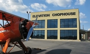 Elevation Chophouse & Skybar: $17 for $30 Worth of Steak, Seafood, and Drinks for Two or More at Elevation Chophouse & Skybar