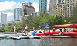 Congress Avenue Kayaks: Tandem-Kayak or Standup-Paddleboard Rentals from Congress Avenue Kayaks (Up to 63% Off). Three Options Available.