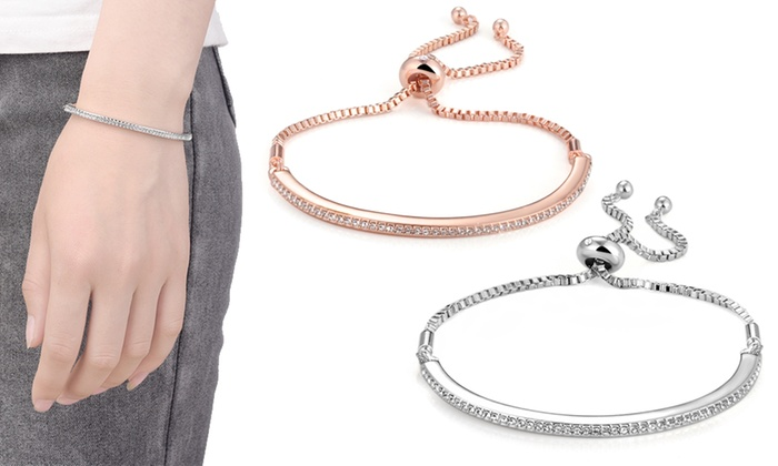 One, Two or Three Philip Jones Friendship Bracelets with Crystals from Swarovski® from £6.50