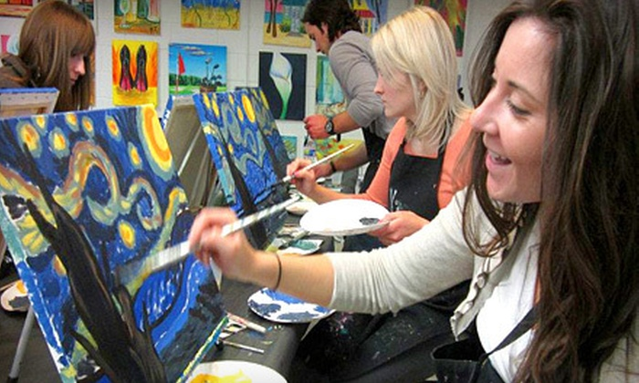 Wine & Design Charlotte - Dilworth: $17 for a BYOB Painting Class at Wine and Design ($35 Value)