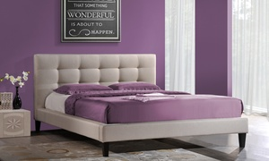 Tufted Upholstered Platform Beds. Available in Full, Queen or King Sizes.: Tufted Upholstered Platform Beds. Available in Full, Queen or King Sizes.